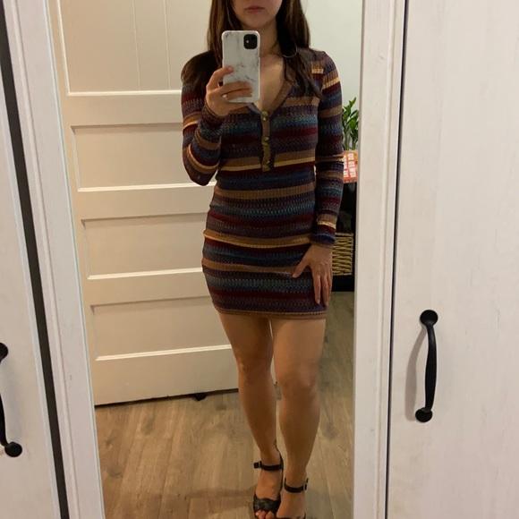 Cute vintage striped mini dress - Size Xs